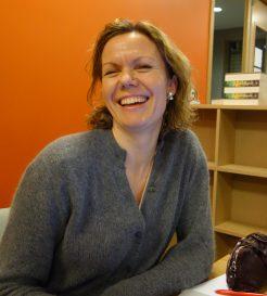 Fornøyd: Karin Helgøy i Samlaget