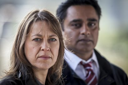 Picture shows: DCI Cassie Stuart (NICOLA WALKER) and DS Sunil 'Sunny' Khan (SANJEEV BHASKAR)